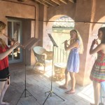 Finding a practice room…Morven, Daisy and Martha-Lilly